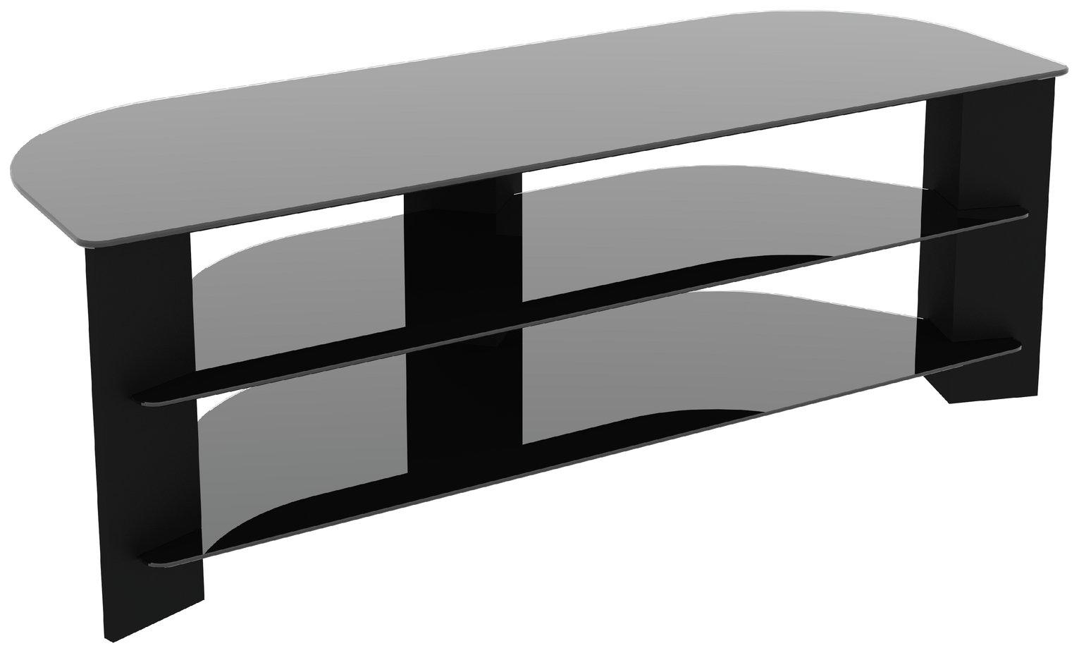 AVF Wood Effect Corner up to 65 Inch TV Stand - Black