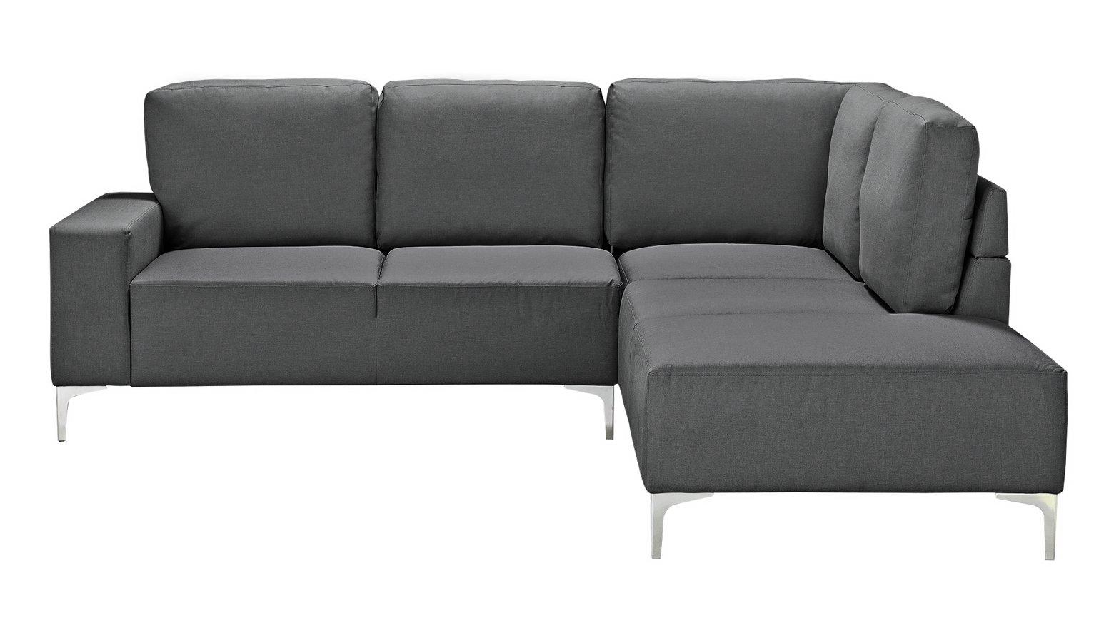 Argos Home Hale Right Corner Fabric Sofa - Charcoal