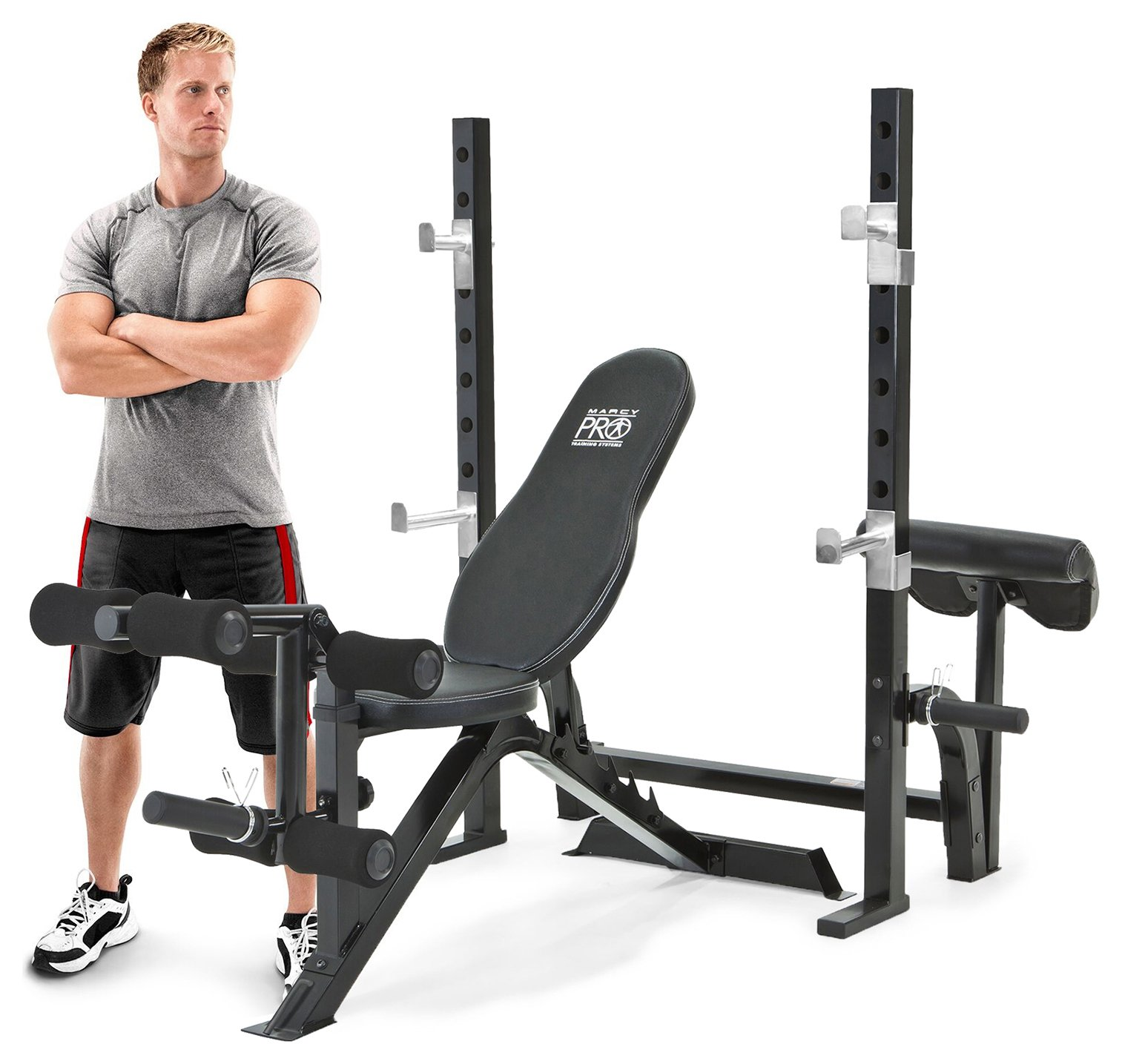 Marcy Pro Olympic Bench with Squat Rack