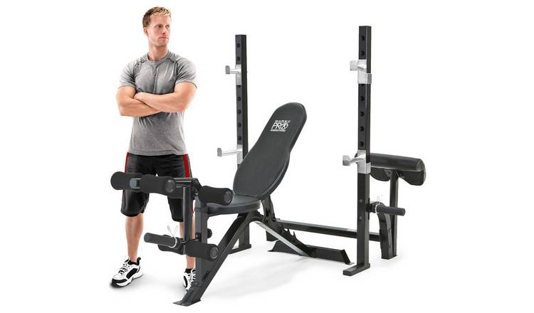 Buy Marcy Pro Olympic Bench with Squat Rack | Weight benches | Argos