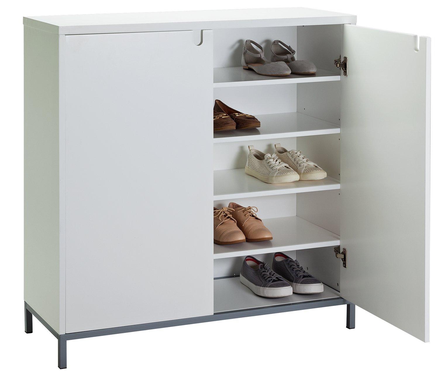 buy argos home francis large shoe storage cabinet white shoe rh argos co uk