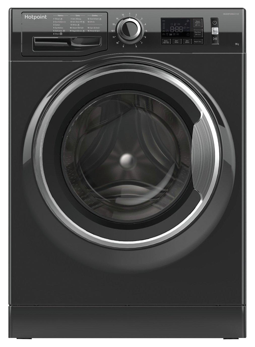 Hotpoint NM11946BCA 9KG 1400 Washing Machine - Black