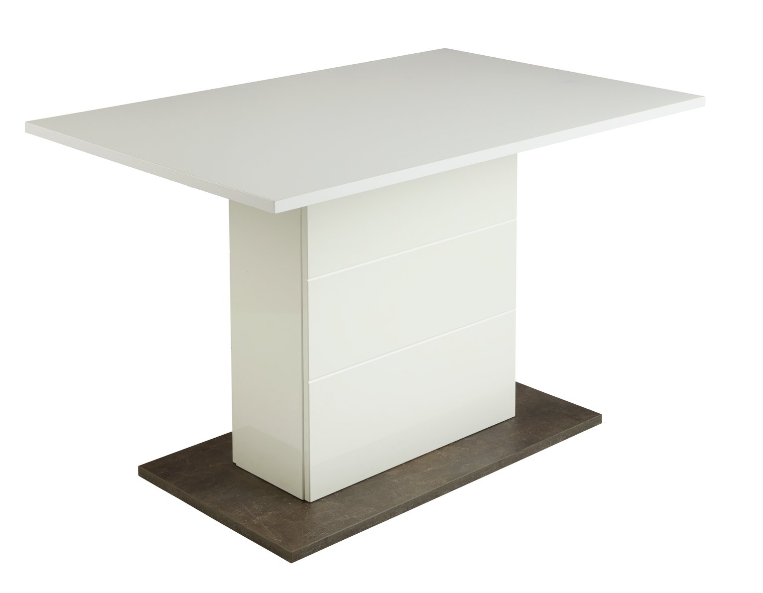 Argos Home Holborn Gloss Pedestal 4 Seater Dining Table