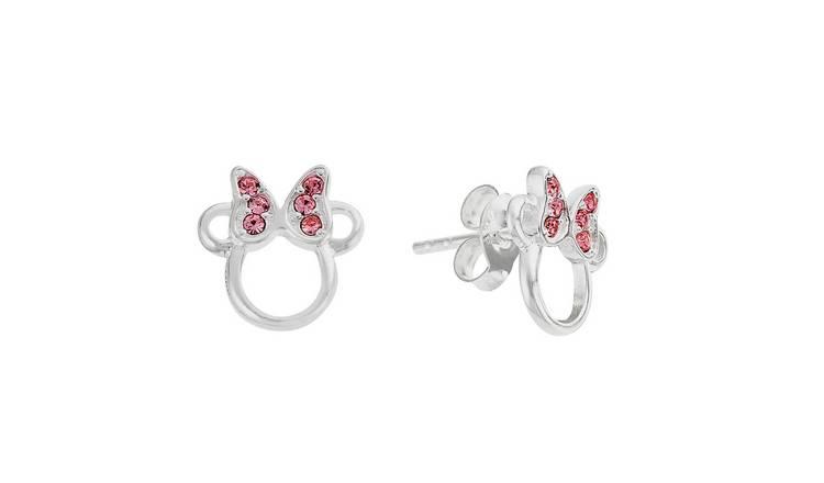 e7f614b8d Buy Disney Minnie Sterling Silver Crystal Set Stud Earrings | Kids ...