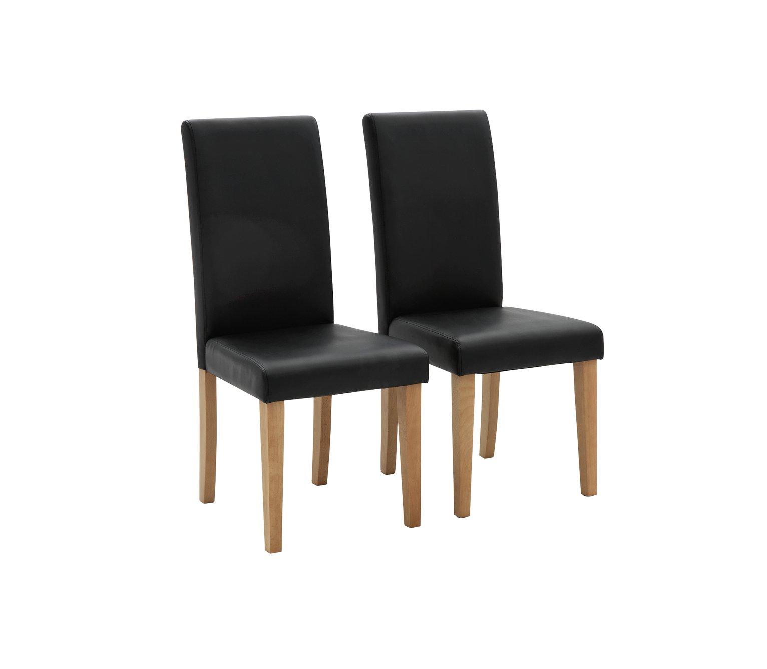 Habitat Pair of Midback Dining Chairs - Black
