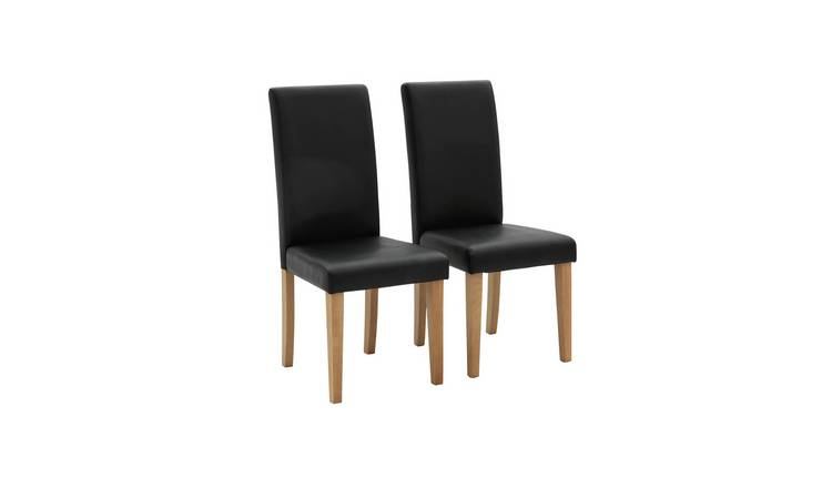 Argos Home Pair of Midback Dining Chairs - Black