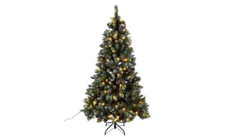 Buy Argos Home 6ft Oscar Pre Lit Christmas Tree Green Artificial Christmas Trees Argos