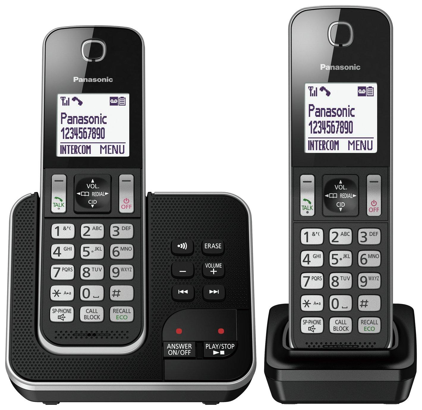 Panasonic Cordless Telephone with Answering Machine - Twin