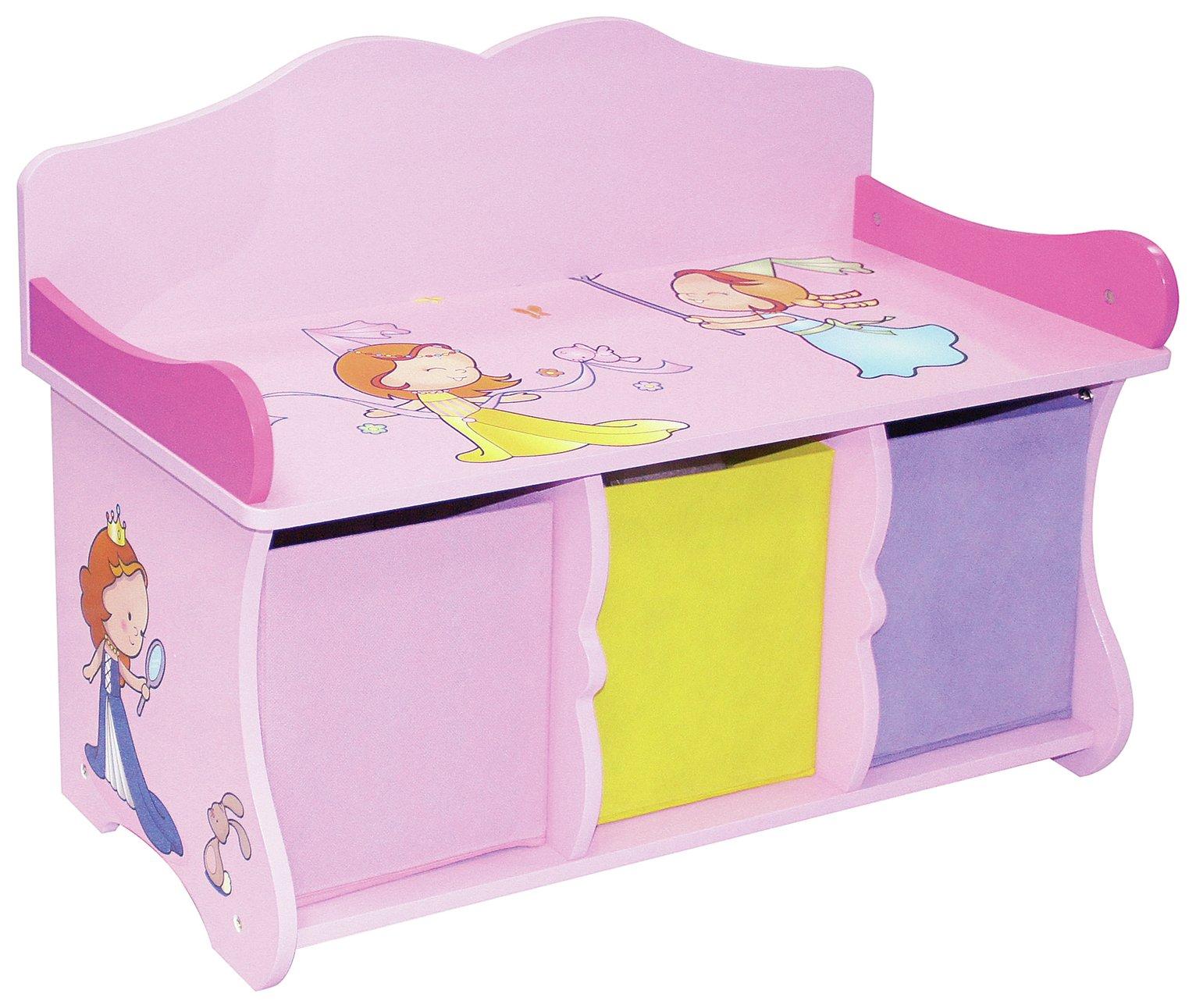 Liberty House Princess Storage Bench & Fabric Bins