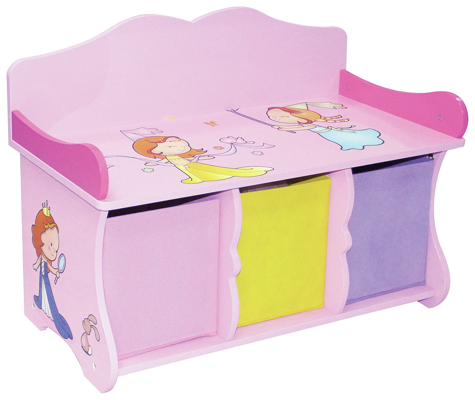 Superbe Buy Liberty House Princess Storage Bench U0026 Fabric Bins | Kids Toy Boxes And  Storage | Argos