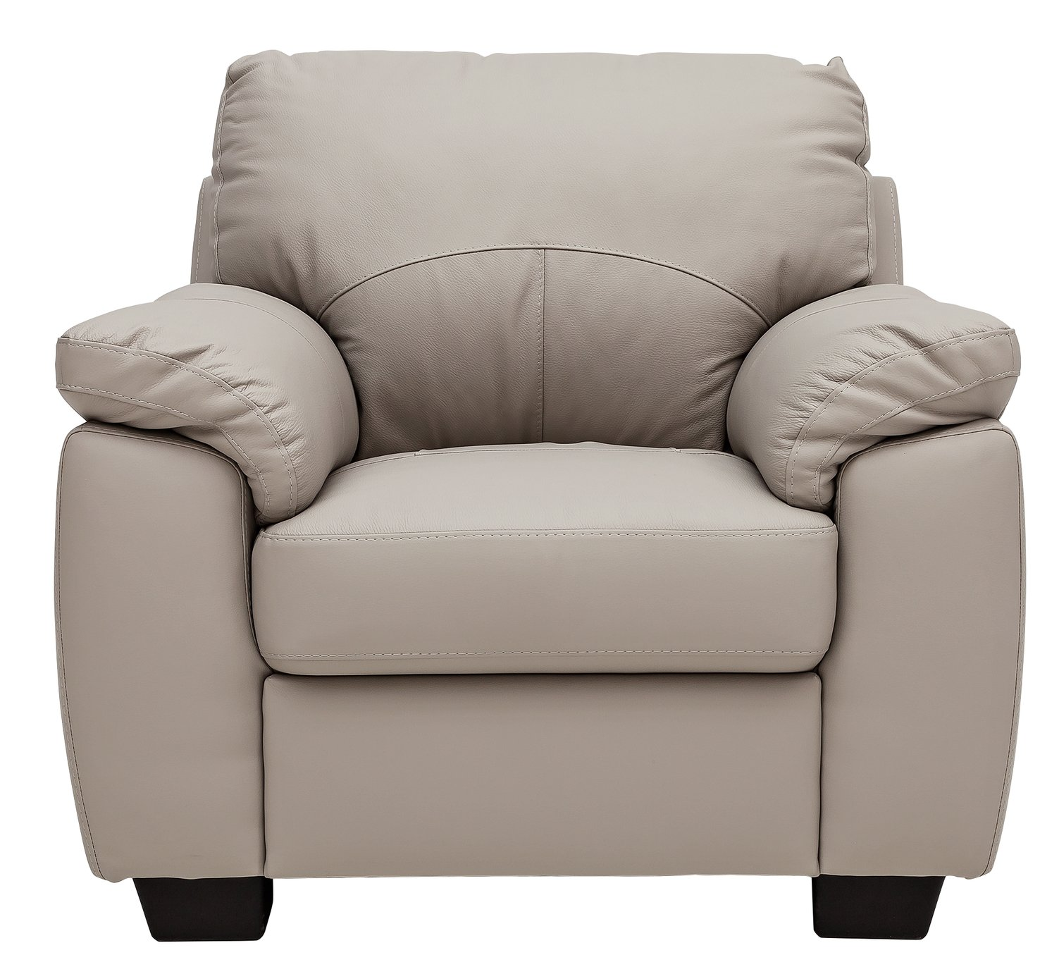Argos Home Logan Leather Mix Armchair - Grey