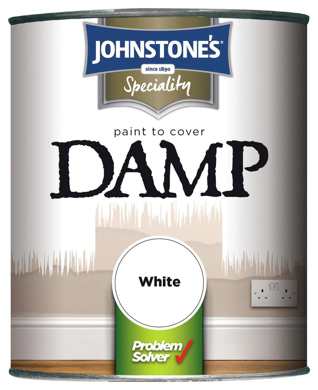 Johnstone's Damp Matt Paint 750ml - White