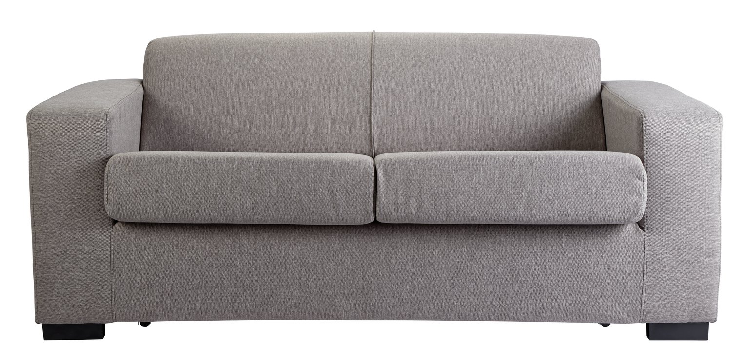 Argos Home Ava 2 Seater Fabric Sofa Bed - Light Grey