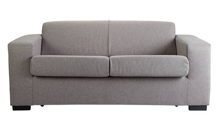 Habitat Ava 2 Seater Fabric Sofa Bed - Light Grey