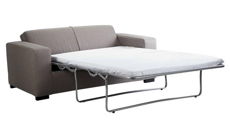 Buy Argos Home Ava 2 Seater Fabric Sofa Bed Light Grey   Sofa beds   Argos