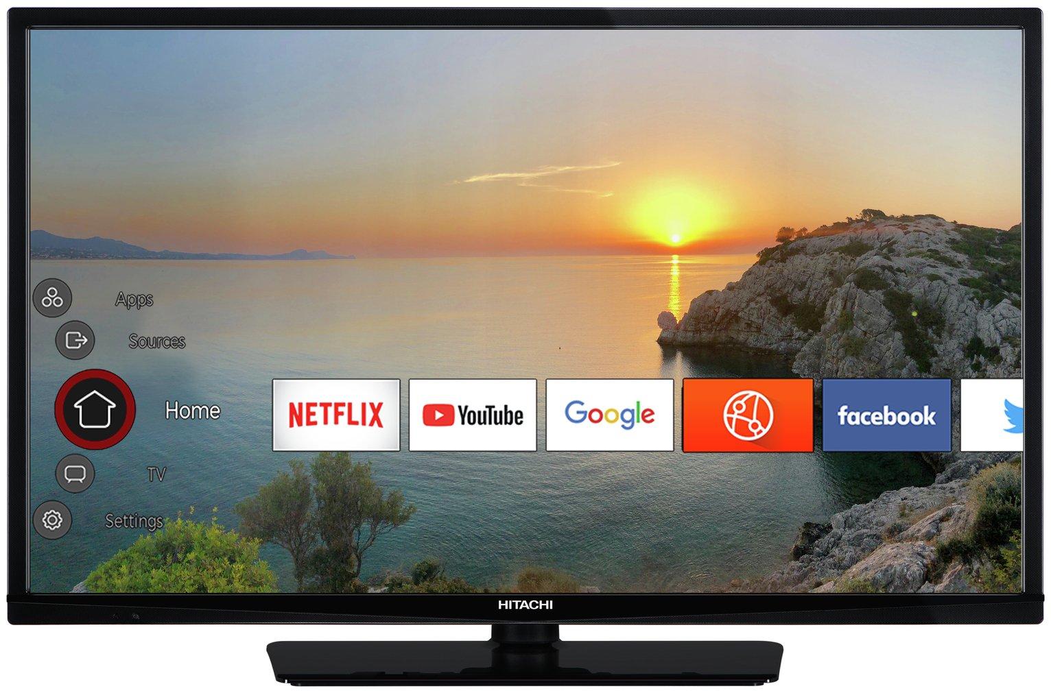 Hitachi 32 Inch 32HE2200U Smart HD Ready LED Freeview TV