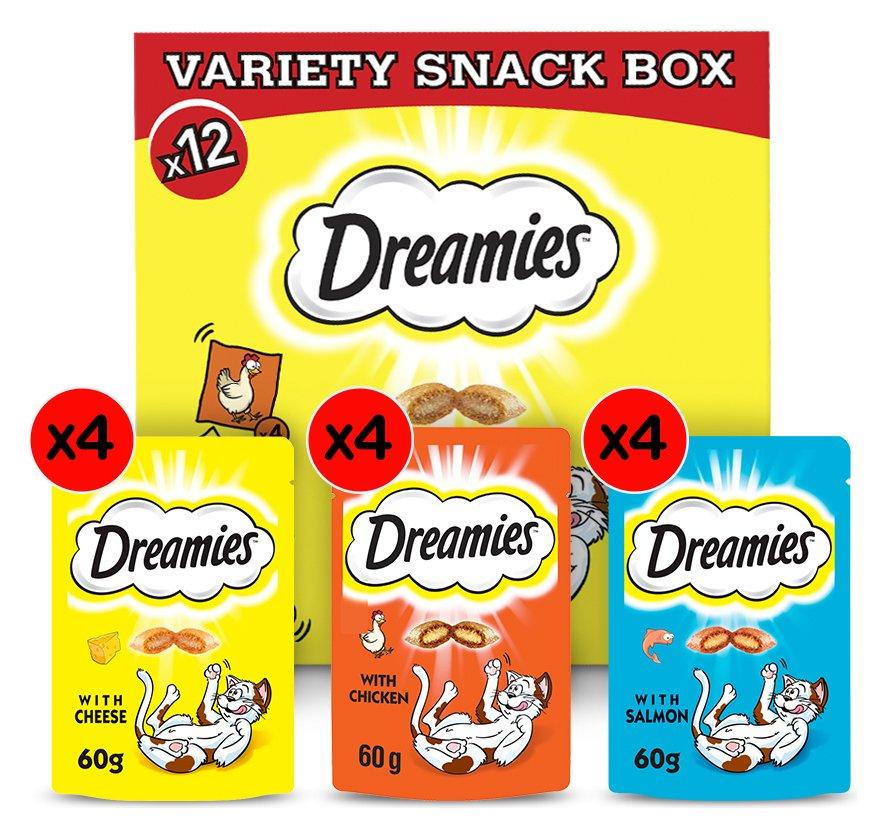 Dreamies Cat Treats Variety Snack Box 12 packs