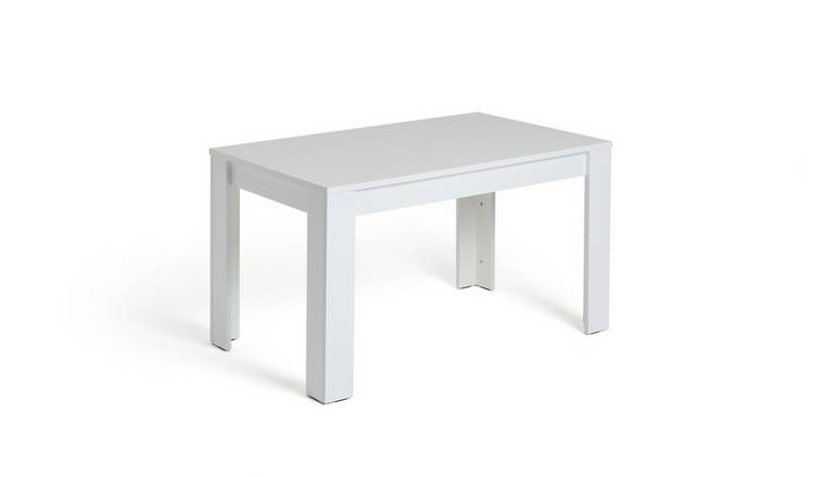 Habitat Miami Gloss 4 Seater Dining Table - White