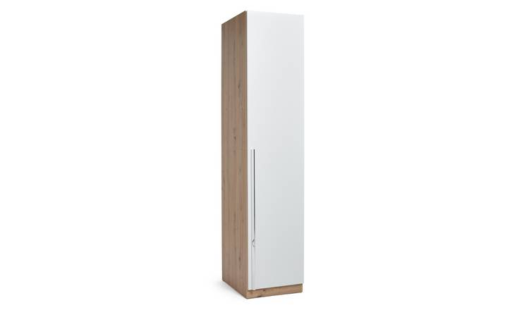 Habitat Munich 1 Door Wardrobe - White & Oak Effect