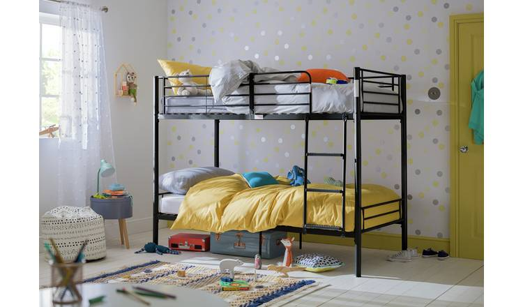 Argos Home Mason Take Home Today Metal Bunk Bed - Black