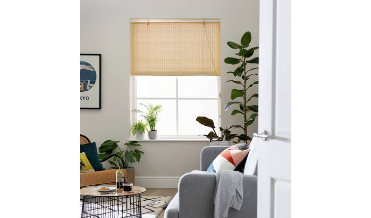 Habitat Daylight Bamboo Roller Blind - 2ft - Natural