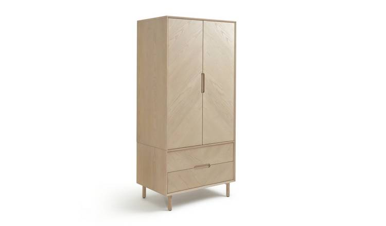 Habitat Halden Skandi 2 Door 2 Drawer Wardrobe - Natural
