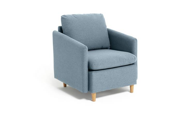 Habitat Mod Fabric Armchair with Arms - Blue