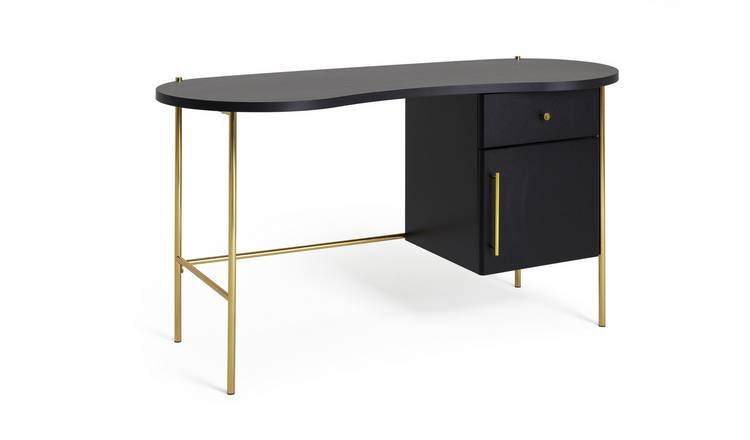 Habitat 1 Drawer Jelly Bean Desk - Black