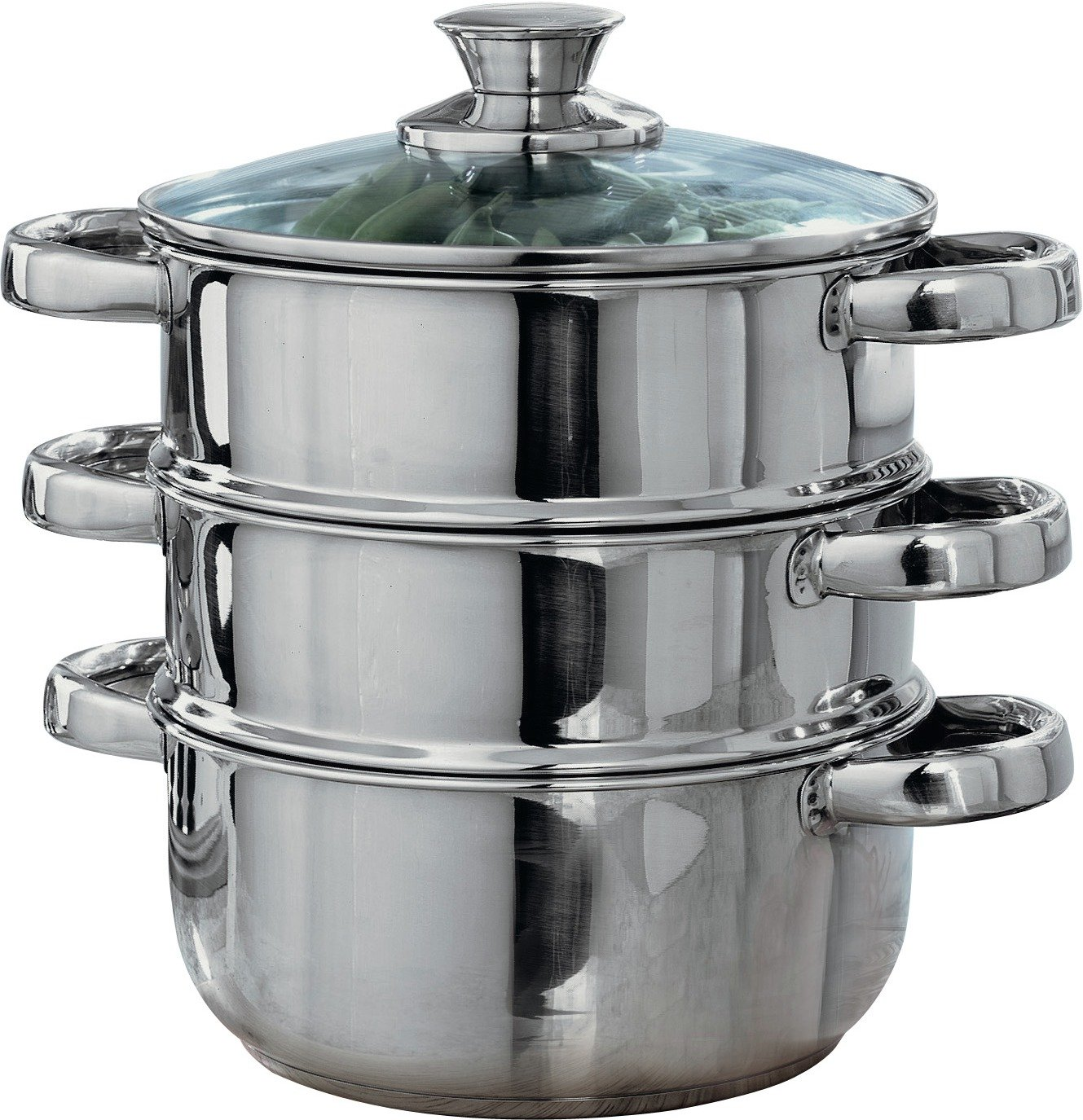 HOME - 18cm Stainless Steel 3 Tier Steamer
