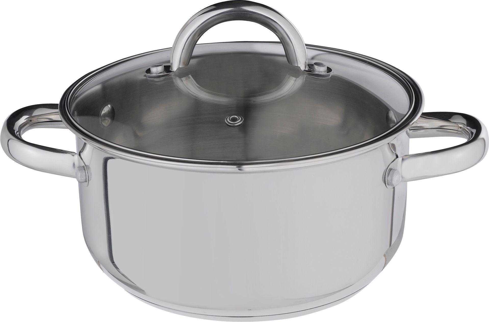 Argos Home 20cm Stainless Steel Casserole Pot