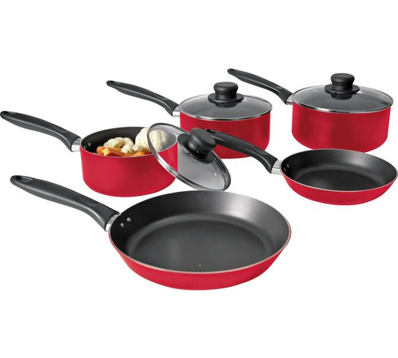 New Home 5 Piece Aluminium Pan Gas And Electric Hobs These