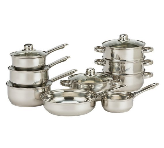 HOME - 9 Piece Stainless Steel Pan Set