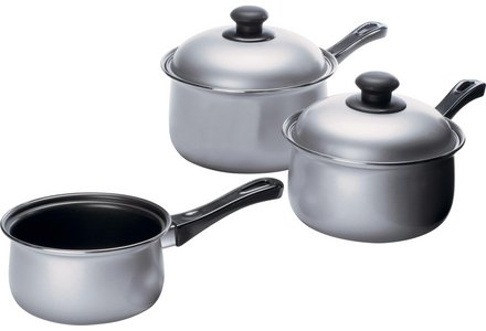Simple Value 3 Piece Non-Stick Carbon Steel Pan Set