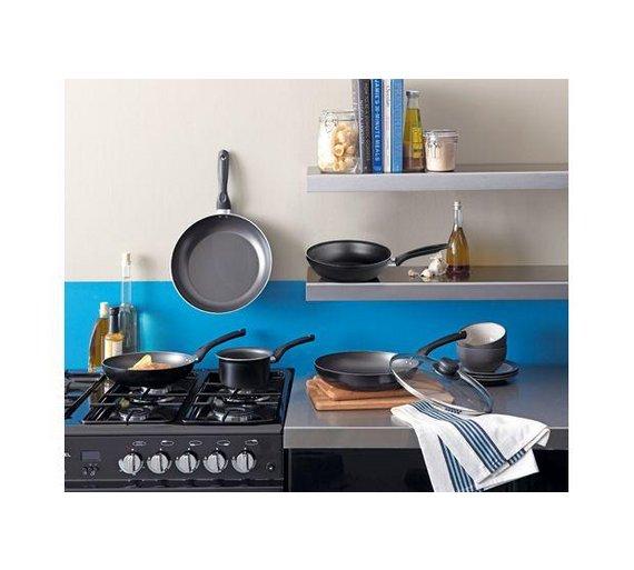 home 20cm non stick aluminium chip pan aluminium base for. Black Bedroom Furniture Sets. Home Design Ideas