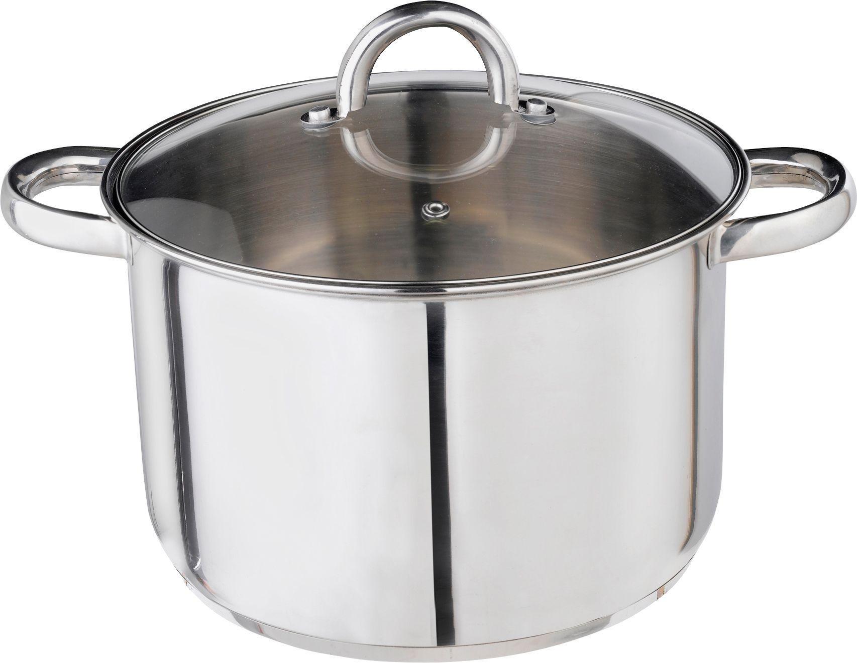 Argos Home 24cm Stainless Steel Stock Pot