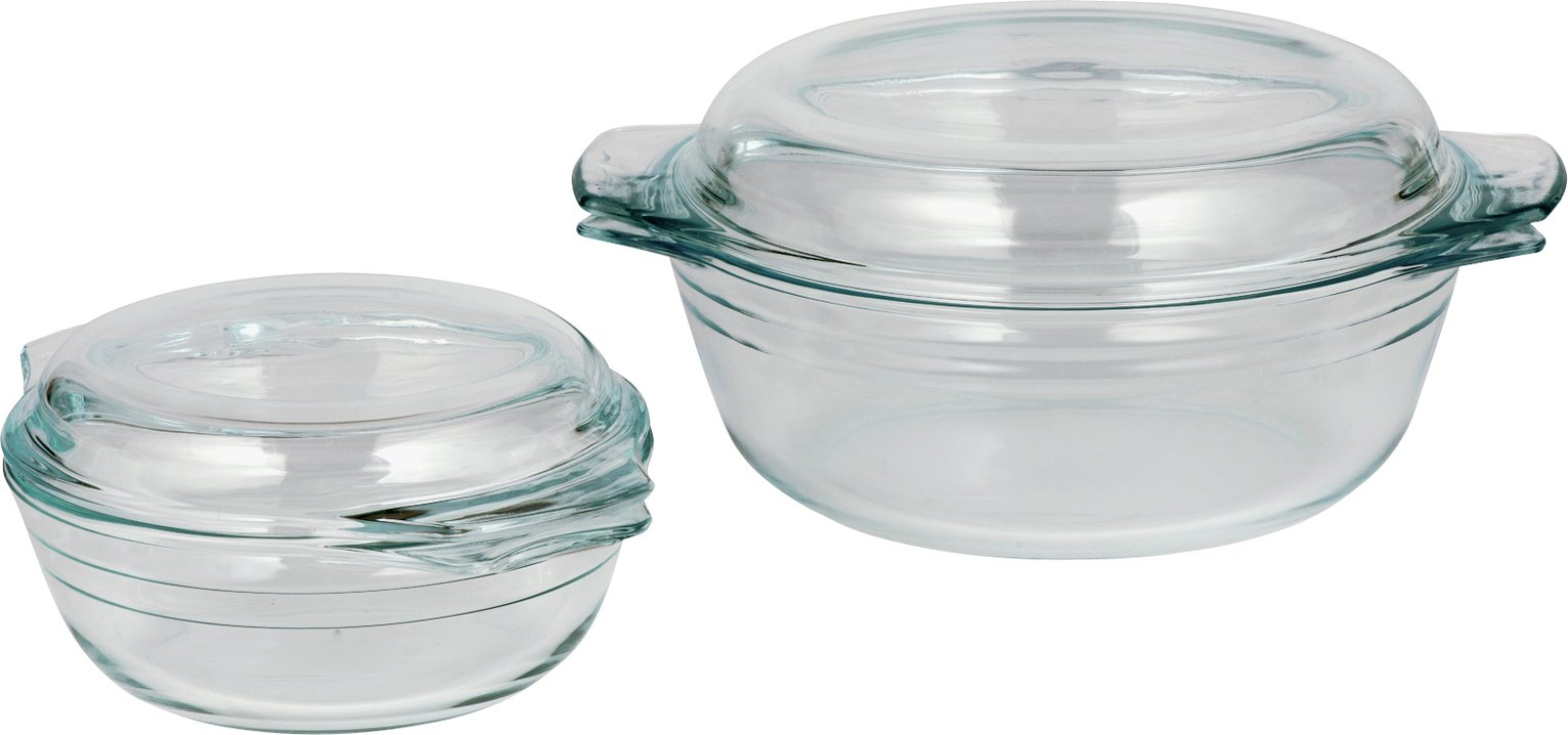 HOME - Set of 2 Glass Casserole Dishes