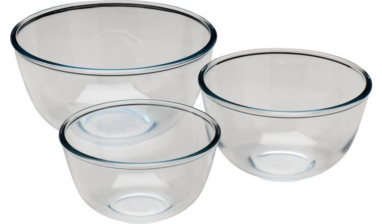 Pyrex 3 Piece Glass Bowl Set