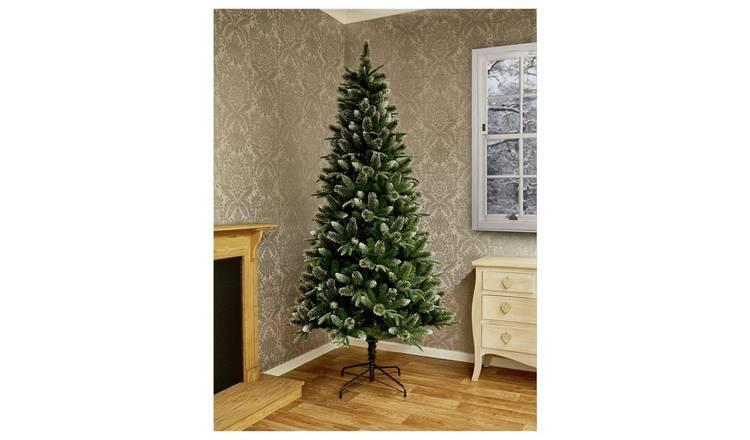 Buy Premier Decorations 7ft Fir Glitter Christmas Tree - Green | Christmas trees | Argos