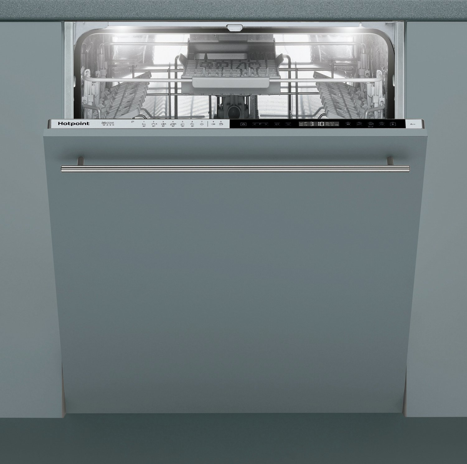 Hotpoint HIP4O22WGTCE Full Size Integrated Dishwasher - S/St