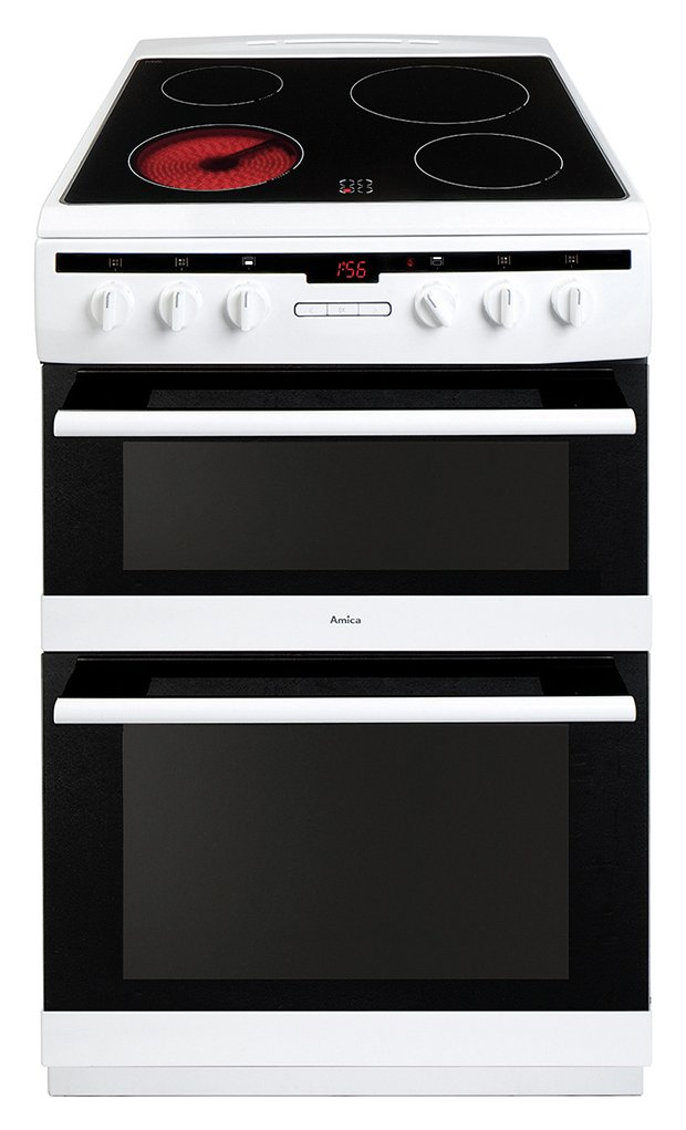Amica AFC6550WH 60cm Double Oven Electric Cooker - White