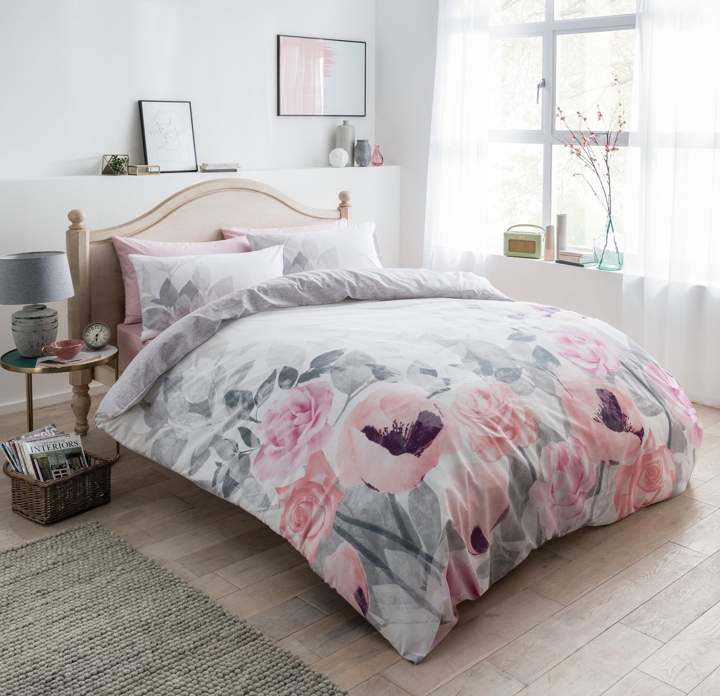 Argos Home Faded Flowers Bedding Set - Kingsize