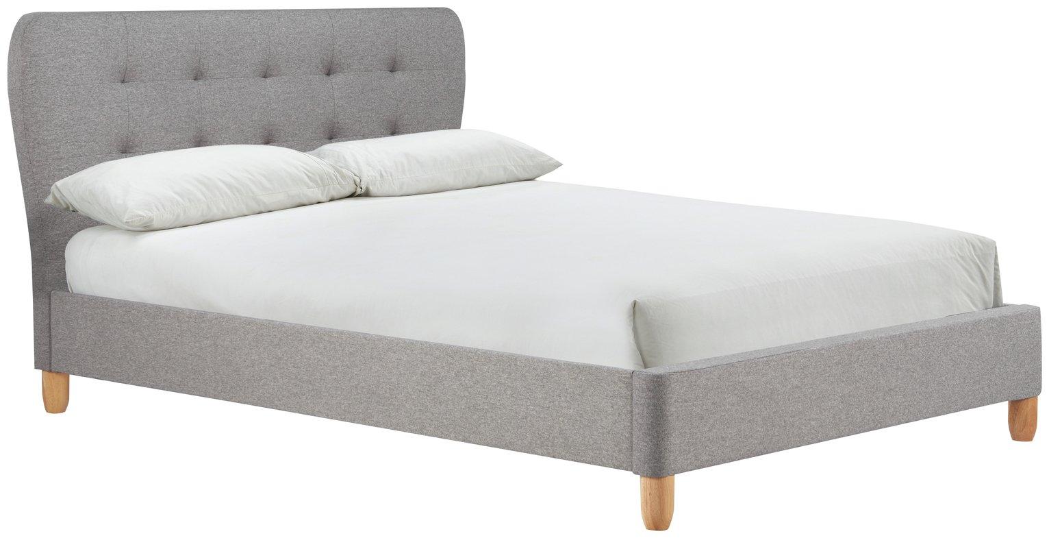 Birlea Stockholm Grey Double Bed Frame