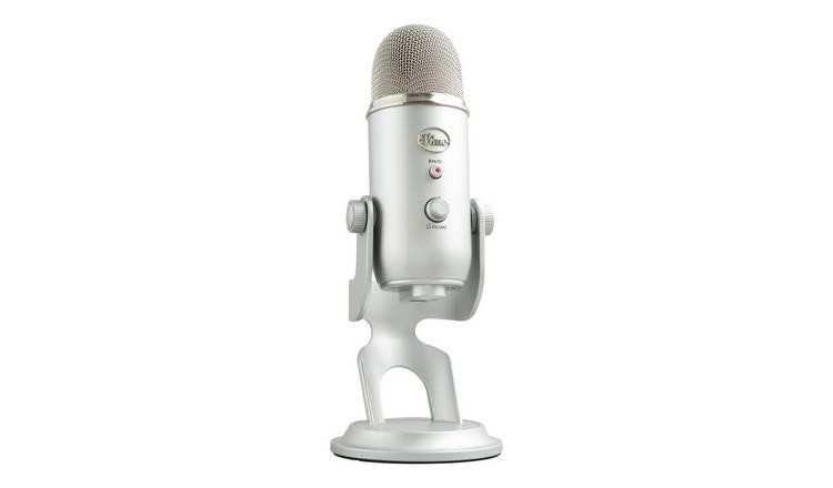 Buy Blue Mic Yeti USB Microphone - Silver | USB microphones | Argos