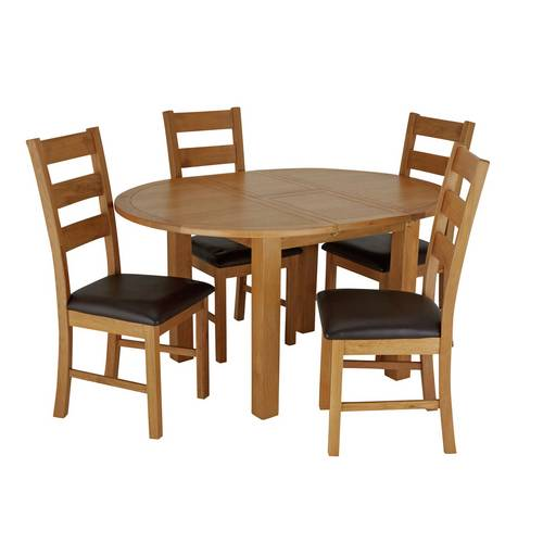Buy Argos Home Ashwell Oak Veneer Extending Table & 4