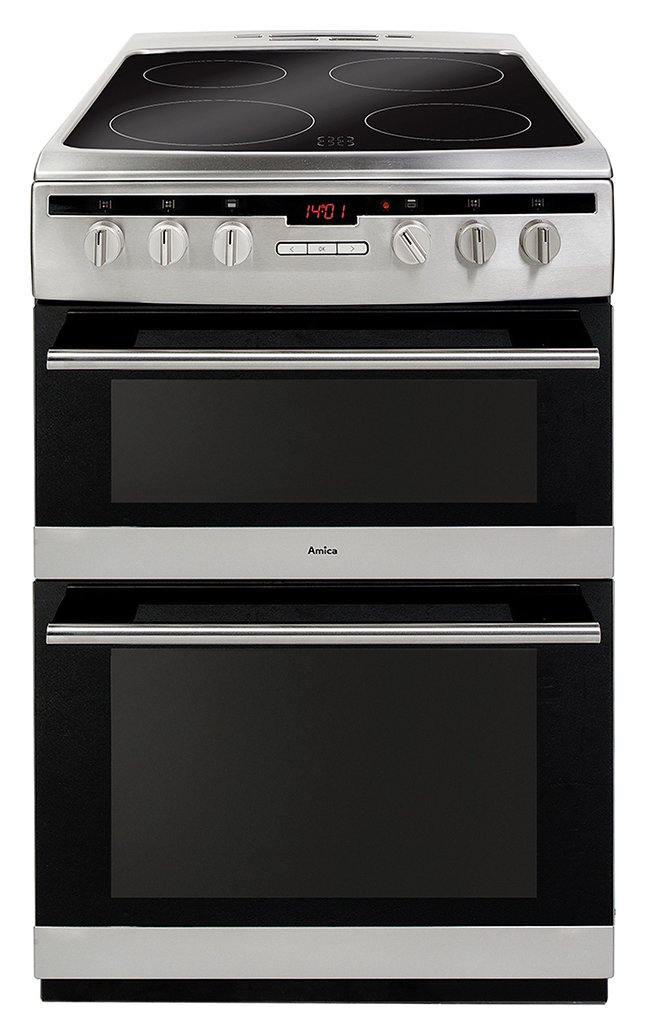 Amica AFC6550SS Double Electric Cooker - Stainless Steel