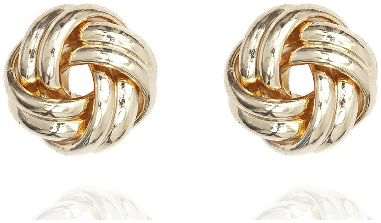 Anne Klein Gold Colour Double Knot Stud Earrings