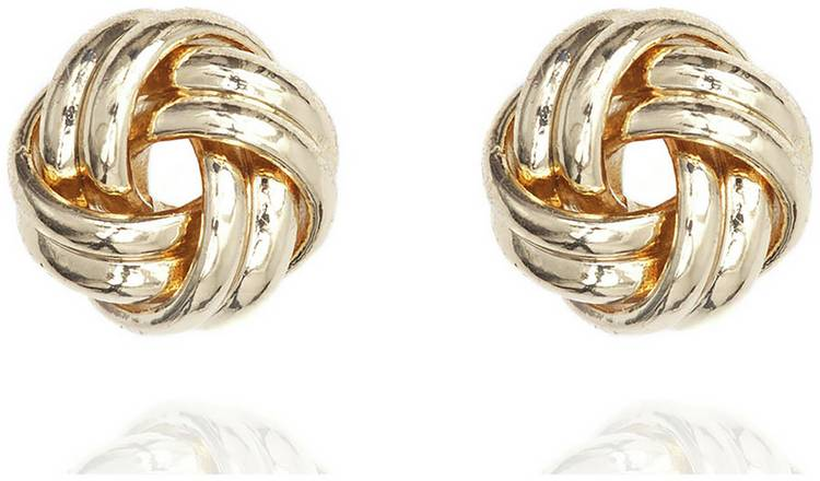 dc27fa37a Buy Anne Klein Gold Colour Double Knot Stud Earrings | Ladies ...