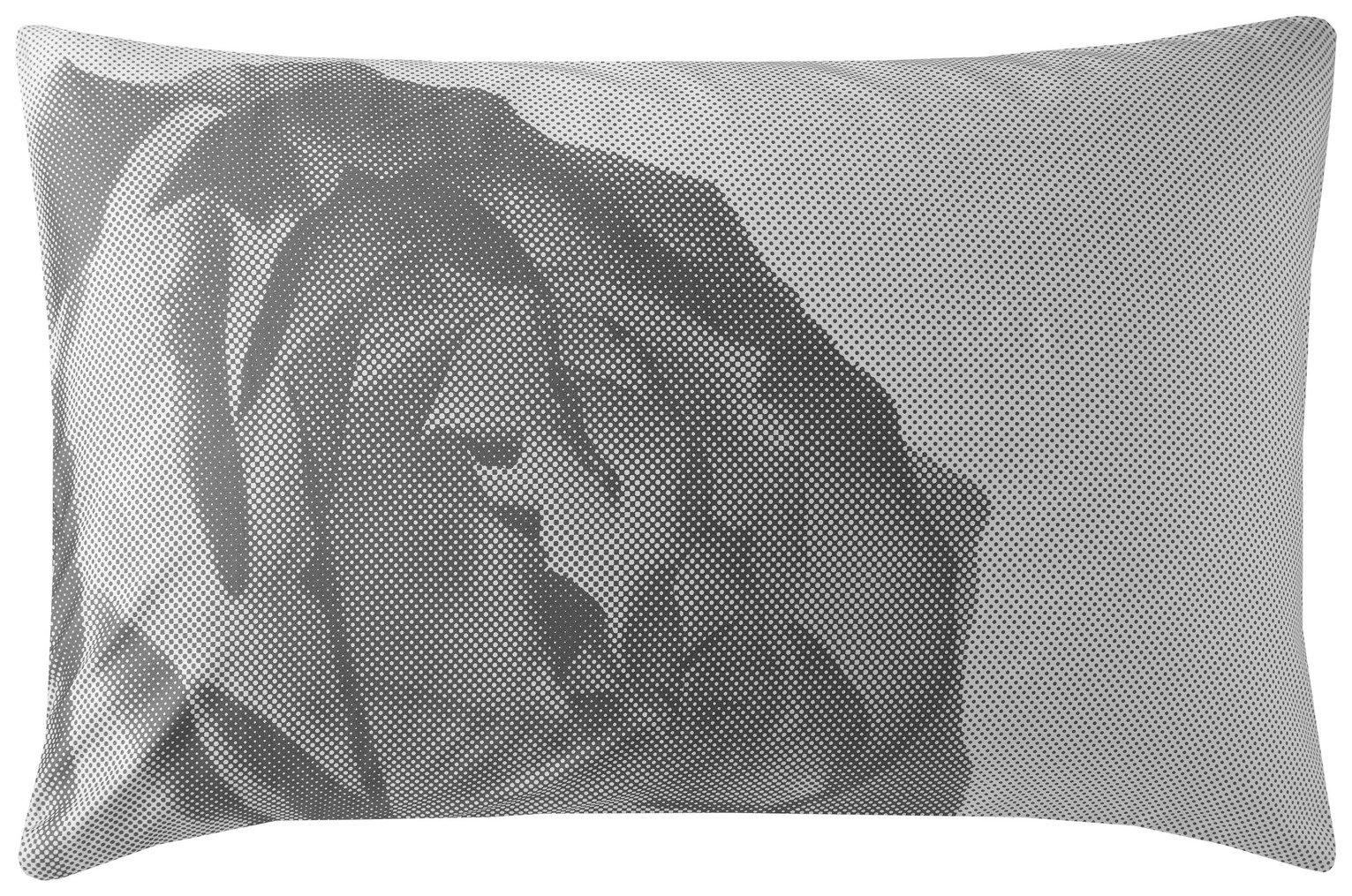 Karl Lagerfeld Pixel Rose Pair of Housewife Pillowcases