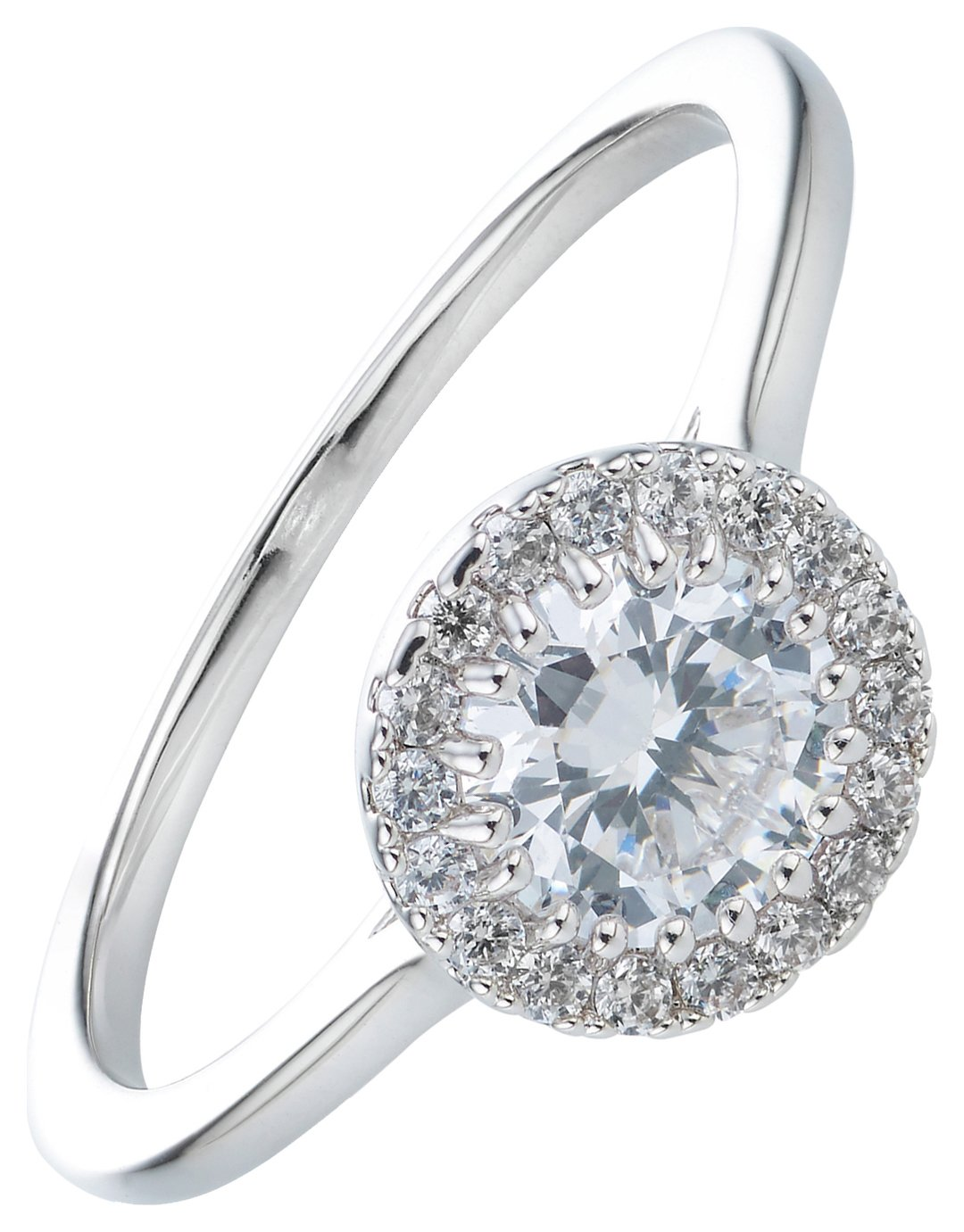 Buckley Silver Colour Cubic Zirconia Roulette Ring - Small