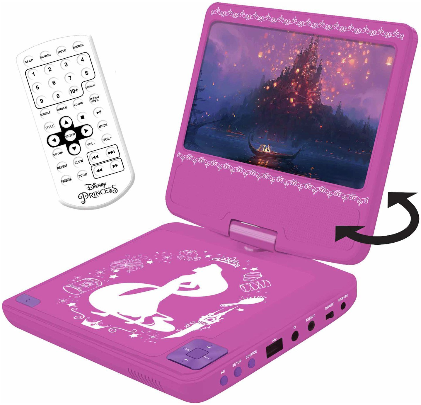 Disney Princess 7 Inch Portable DVD Player